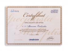 Certyfikat specjalisty Air Optix